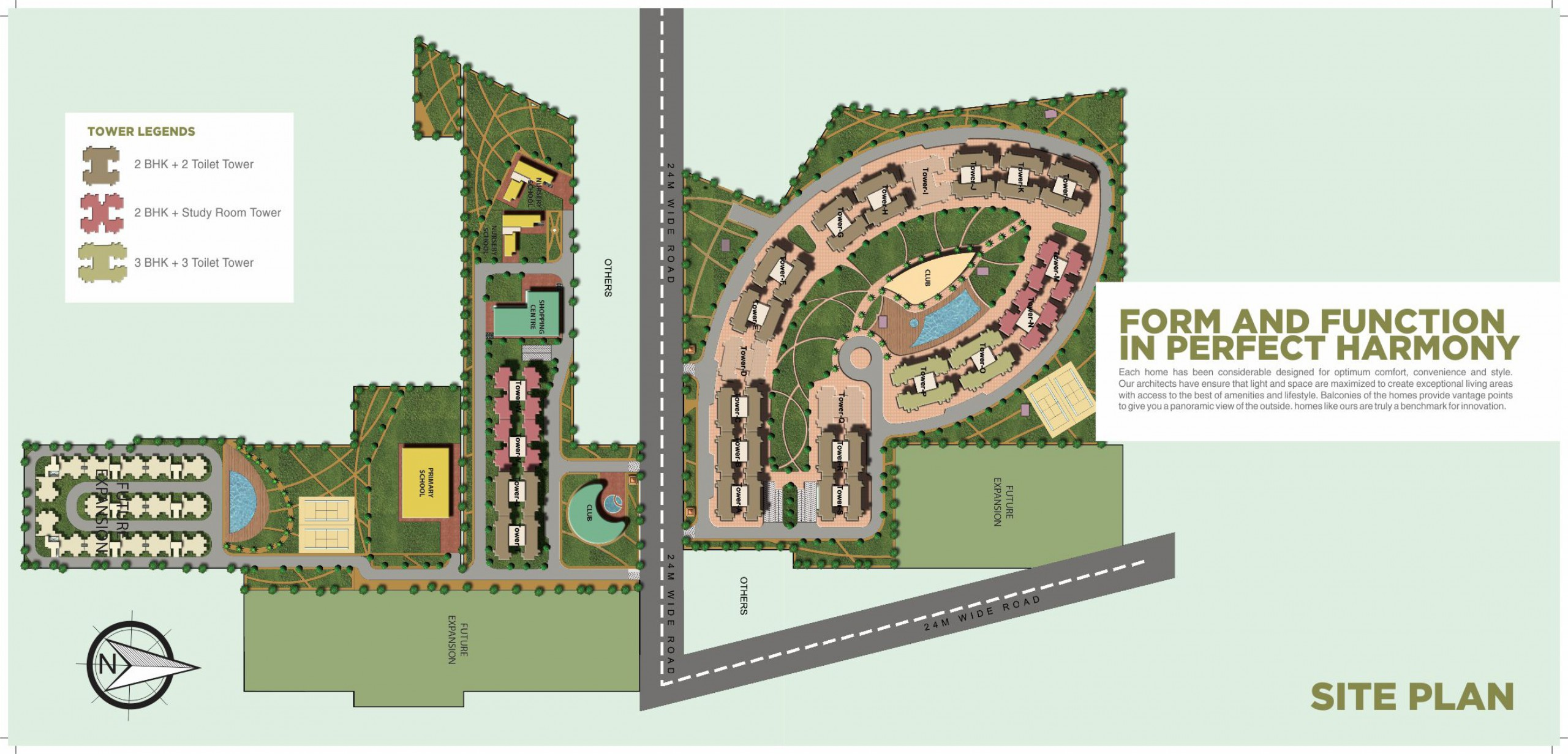 Supertech Hues Site Plan